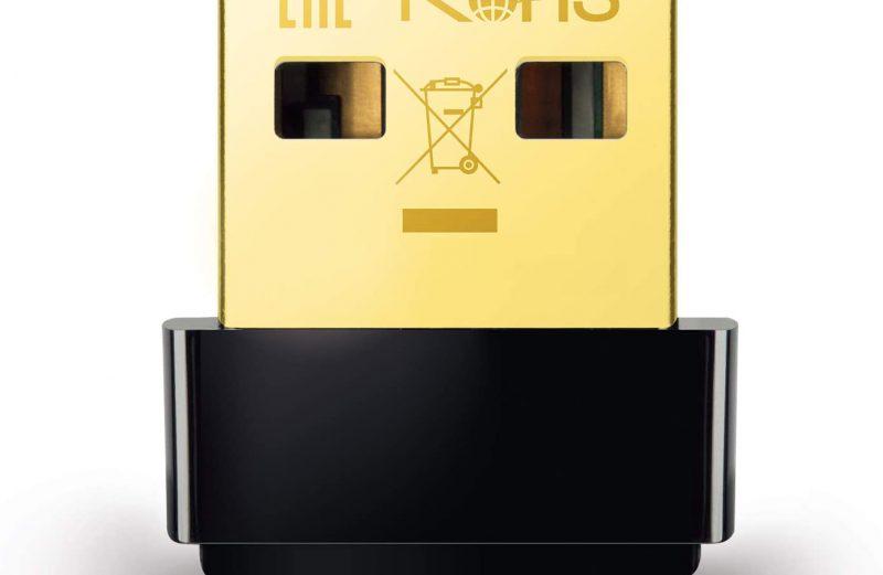 TP-Link Mini – AC600 USB 2.0 Wifi Adapter, 2.4G/5G Dual Band Wireless Network Adapter for PC Desktop, Mini Travel Size, Supports Windows 10, 8.1, 8, 7, XP / Mac OS X 10.9-10.14 (Archer T2U Nano)